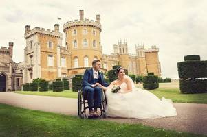 'there wasn't a dry eye in the room' paralysed firefighter uses special frame to dance with wife at wedding