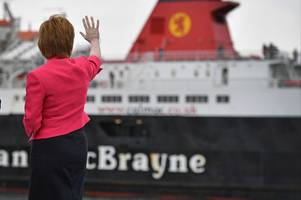 government left red-faced over arran ferry decision after less than a quarter of rail services reach ardrossan harbour on time