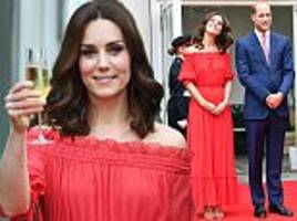 Kate Middleton wears Alexander McQueen at Berlin party