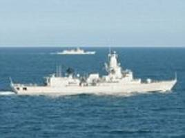 royal navy scrambled to escort flotilla of chinese ships