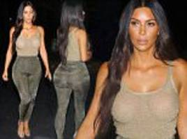 Kim Kardashian leaves little to the imagination in LA