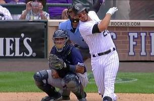 Watch Nolan Arenado hit 3 home runs against the Padres