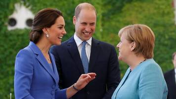 william and kate hold talks with angela merkel in berlin