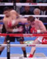 amir khan has 'glass' chin shattered to smithereens by canelo alvarez in highlight reel ko