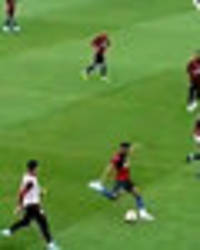 watch newcastle new boy jacob murphy score from inside own half during england training