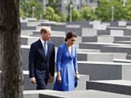 william and kate visit the holocaust memorial in berlin