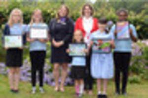 Pupils show what Tiverton means to them in Taylor Wimpey art...
