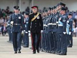 Dashing Prince Harry takes part in RAF ceremony