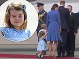Princess Charlotte performs her first curtsy