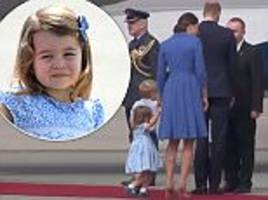 Princess Charlotte performs her first curtsy in Poland