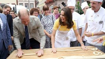 knot bad: william and kate try pretzel making
