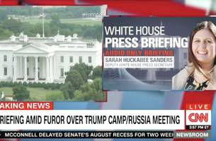 Renegade White House Reporter Livestreamed Audio-Only Press Briefing