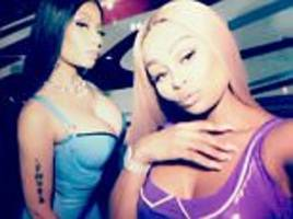 blac chyna joins nicki minaj in music video for rake it up