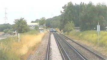 Train misses car 'by seconds' at Canterbury level crossing