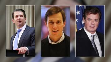 senate panels scheduled to hear from kushner, trump jr. and manafort