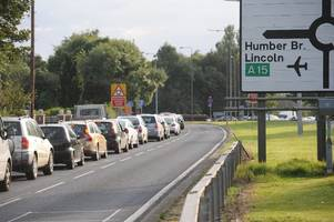 'Chaos' near Humber Bridge as A164 closure grinds traffic to a standstill