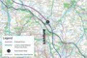 hs2 phase 2a route from fradley near lichfield past kings...