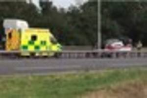 a12 brentwood crash: first video emerges after van overturns