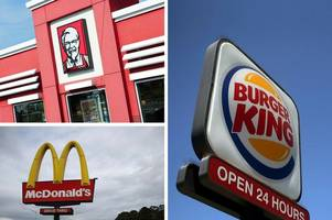 'poo bacteria' found in ice from three main fast food chains mcdonald's, kfc and burger king