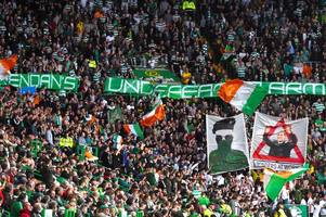 celtic slam green brigade over paramilitary-style banner and say 'support for any proscribed terrorist organisation has no place at parkhead'