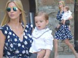 ivanka trump leaves her d.c. home with son theodore