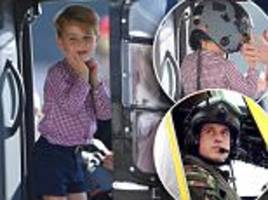 Prince George follows in Prince William's footsteps