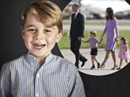 a new image prince george is released for his birthday