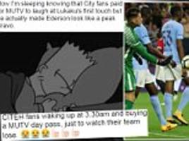 Man United fans mock City fans for subscribing to MUTV