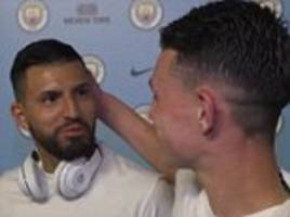 sergio aguero reveals his love for man city's phil foden