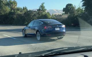 we spotted tesla's model 3 in the wild a week before its official launch (tsla)