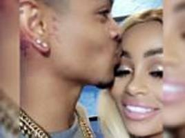 blac chyna is kissed by rapper mechie