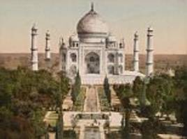 colourised photographs from 19th and 20th century raj