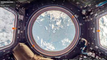 skip space camp, go to iss with google street view
