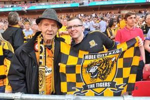 grandson's touching tribute to one of hull city's oldest fans who spent a lifetime cheering on the tigers