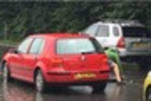 This hero driver tried to stop a flood in Plympton all on his own