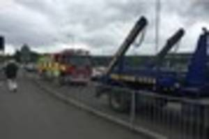firefighters called to busy tamworth traffic island to deal with...
