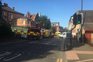 Emergency services called to three car crash in Lincoln