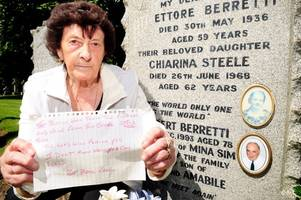 ayr gran leaves stark warning for grave robbers after heartless thieves pinch flowers from her father's grave