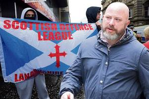 scottish defence league thug made nazi salute after punching anti-racist campaigner