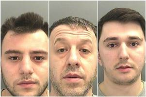 members of a drugs gang have been jailed after being found with cocaine worth £200,000