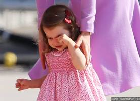 royal tantrum! princess charlotte cries and refuses to board helicopter in hamburg