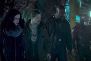 the latest trailer for the defenders promises blood and war