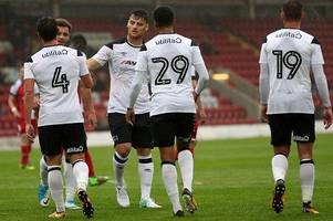 derby county defender misses out of friendly against kaiserslautern