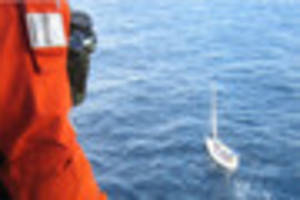 latest on rescue of sinking yacht 60 miles off cornwall