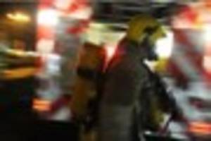 a fire at a three-storey building sees british red cross called...
