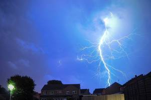 Met Office updates weather warning to include heavy, thundery showers which could lead to localised flooding