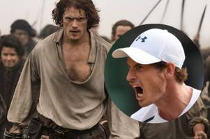 outlander fans call on andy murray to star in hit show after ed sheeran's game of thrones cameo