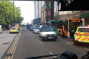 Police stop bus in Cardiff city centre as they investigate 'threats by a passenger'