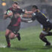 rugby: brutal crusaders overwhelm highlanders