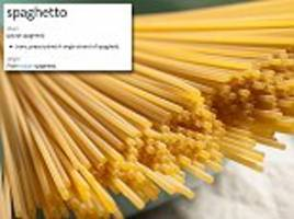 do you know the term for a single strand of spaghetti?